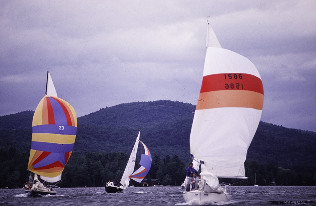 Sailing race, Lake George, New York, circa 1995.