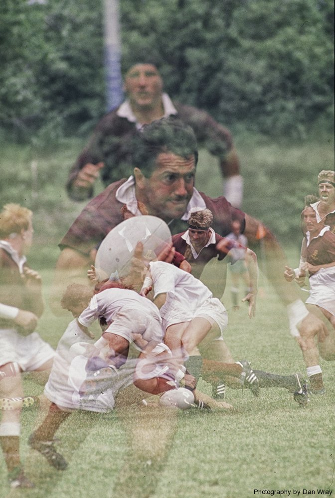 Rugby, multiple exposure.