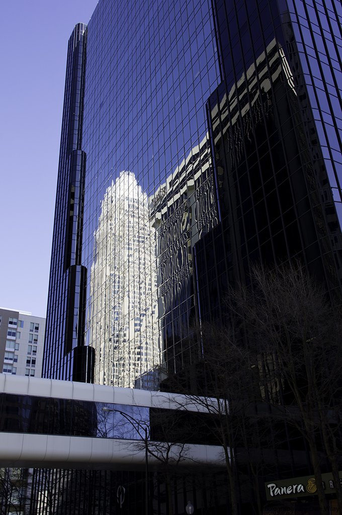 Building reflections in uptown Charlotte, North Carolina.