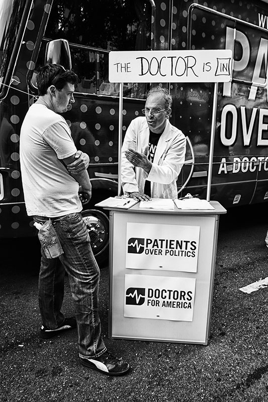 Patients over Politics bus at Carolina Fest, Charlotte, North Carolina prior to the Democratic National Convention, 2012.