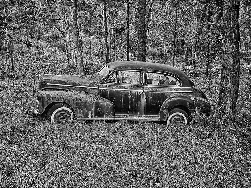 Abandoned car, Piedmont region of North Carolina.