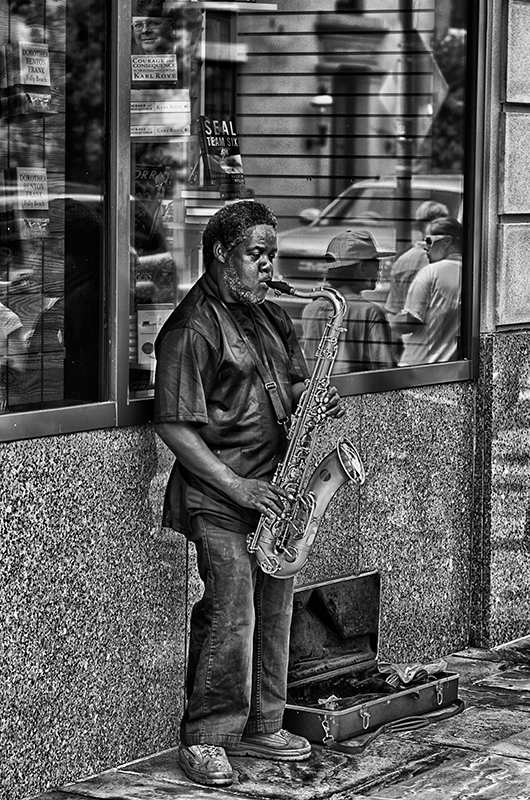Saxaphone player, Charleston, South Carolina
