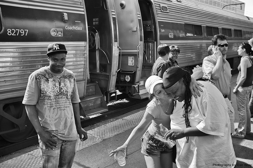 Train Stop, Penn Station, New Jersey to Greensboro, North Carolina.