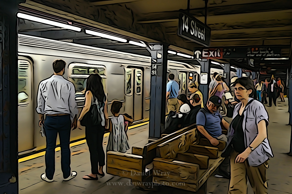 New York City Subway photo illustration.