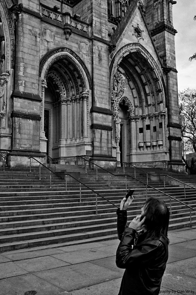 multi-tasking at the Cathedral of St. John, NYC