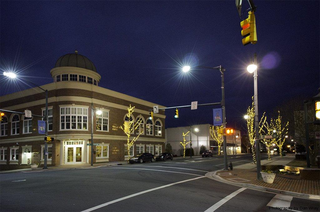 Albemarle at twilight, Home Savings Bank