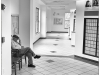 Man resting in post office, Albemarle, North Carolina