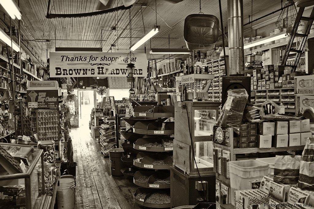 Olde Timey Hardware Store, Mount Gilead, North Carolina.