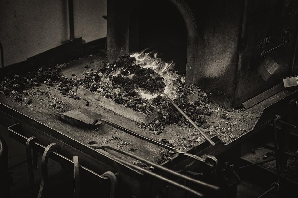 Blacksmith furnace at the John C. Campbell Folk Art School, Brasstown, North Carolina.