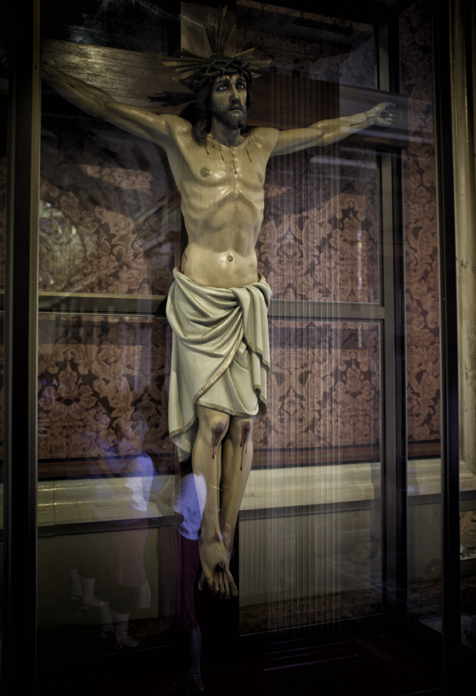 Crucifix in the METROPOLITAN CATHEDRAL IN SAN JOSE, COSTA RICA