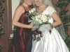 Deirdre and twin sister Danielle on  wedding day, at Prosperity Presbyterian Church, Charlotte, NC.