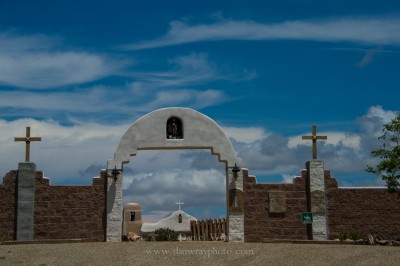San Francisco de Asis Catholic Church, Golden, New Mexico, Established 1839.