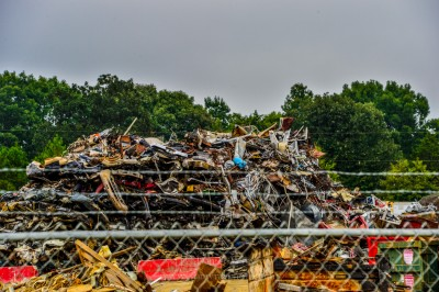 Scrap and recycling facility, Montgomery County, North Carolina.
