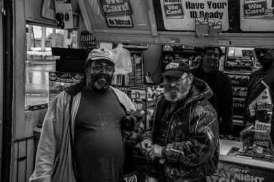 Men in corner convenient store, Mount Gilead, North Carolina.