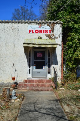 Florist shop, Albemarle, North Carolina.