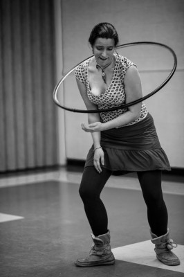 Katie Hopkins, Hoop Dancer and instructor.