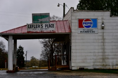 Leflers Place Diner, near Mount Gilead, North Carolina.