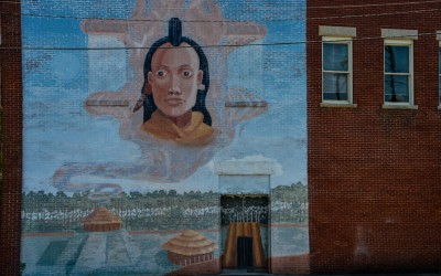Native American mural, Mount Gilead, North Carolina.