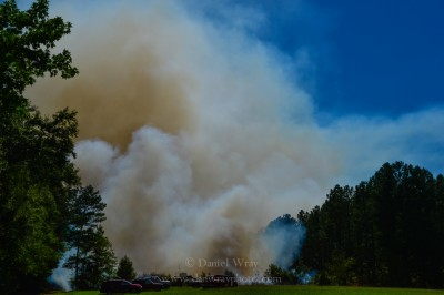 Controlled burn, Montgomery County, North Carolina.