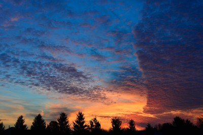 Sunrise in southern Ohio, November 29, 2014