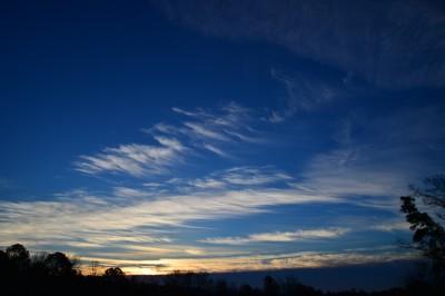 Sunrise on a winter morning, Piedmont of North Carolina.