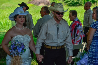 Cowboy themed wedding.