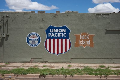 Historic railroad signs, Tucumcari, New Mexico