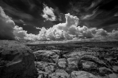 View from the Mesa of the Acoma Indian Pueblo, New Mexico. Zeiss 18mm lens.