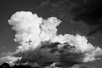 Clouds, sky during weather changes in Piedmont of North Carolina.