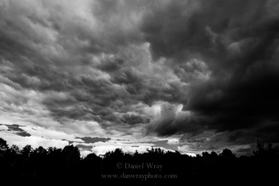 Gathering storm clouds, Piedmont of North Carolina.