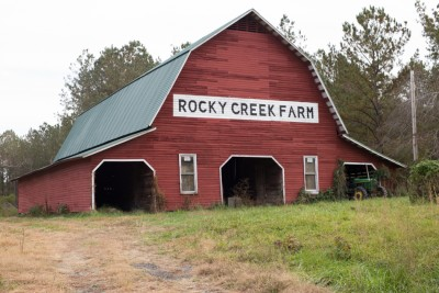 Rocky Creek Farm red barn.