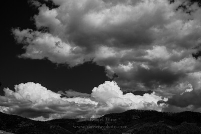 Clouds over mountains, Santa Fe, New Mexico
