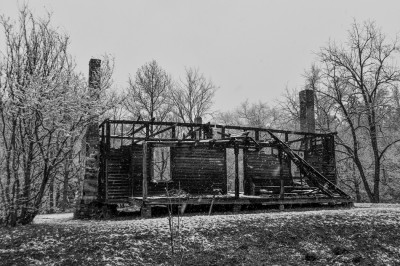 Burned out house, Mount Gilead, North Carolina.